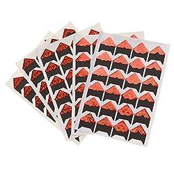 120pcs Self-adhesive Scrapbook Photo Sticker Diy Album Scrapbook - Red+gold +Black, 9cm×12.25cm
