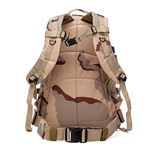 40L Mil-Tec Military Army Patrol MOLLE Assault Pack Taktischer Rucksack Laptop Tasche Rucksack für 10bis 39,6cm Laptops hree Sand Camouflage