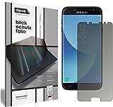 dipos I Blickschutzfolie matt passend für Samsung Galaxy J7 2017 Sichtschutz-Folie Display-Schutzfolie Privacy-Filter