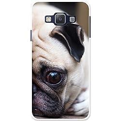 Funda de carlino para teléfonos móviles, plástico, Pug Laying Down, Samsung Galaxy A3
