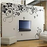 Adesivi per parete, decorazione per casa, motivo floreale HG-0275