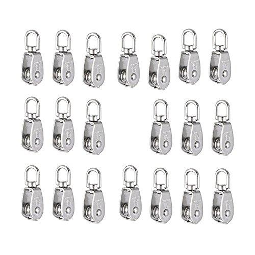 TOOGOO Kranhakenblock Flaschenzug M15 Hebekran Schwenkhaken Einzelflaschenzug haengenden Draht Abschlepprad 10 Stueck