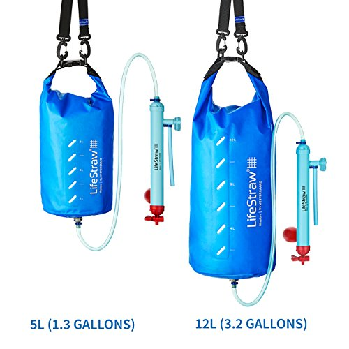 LifeStraw Mission  Kompakter Wasserreiniger mit Hohem Volumen (12 Liter) Filter, Blau, 12 liters - 4