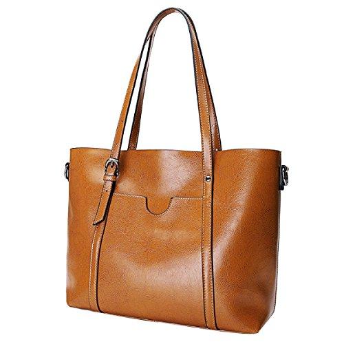 Frauen Mode Handtaschen Mode Einkaufstaschen Wachstasche Yellow