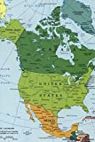 A Map of Modern Day North America Journal: Take Notes, Write Down Memories in this 150 Page Lined Journal