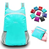 IOKHEIRA 10L Lake Blue Foldable Ultra-Light Backpack Rucksack Packable Daypack Rucksack Shoulder Bag Waterproof Nylon Outdoor Sports Unisex Cycling Roomy School Hiking Trekking Camping Travelling Bag