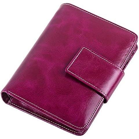 Itslife olio da donna, a portafoglio in pelle, colore: nero