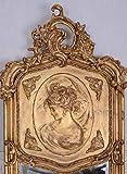 Zwei Wandspiegel Barock Spiegel Gold Frauenbüsten Rechts & Links - 3