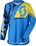 Scott 350Race MX Motocross Jersey/DH Ciclismo Blu/Giallo 2017, Uomo, Blu/Giallo, XXL
