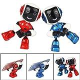 Altsommer Elektro Mini Roboter,Handy Halterung Roboter Spielzeug mit Touch,Sound und Blitzfunktion für Kinder,Flexible Gelenke Roboter mit Pädagogischen für Jungen, Mädchen (Blau)