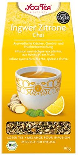 Yogi Ingwer Zitrone Chai BIO 4 Packungen à 90 g, loser Tee -