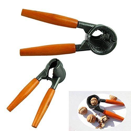 valink Heavy Duty Nussknacker Pecan Walnuss Zange Öffner Werkzeug mit Holz Griff Mutter Öffner Küche Werkzeug-17,7cm x 9,8cm x 5,8cm
