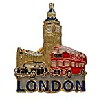 Emaille Pin Badge, London Big Ben, schwarz Taxi und Big Red Bus ? London Souvenir Pin Badge Details die drei begehrt Ikonen