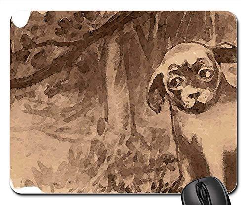 Gaming-Mauspads, Mauspad, Dog Owl Forest Woods Naturbäume Halloween
