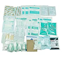 160 piece first aid kit bag refill kit - includes 2 x eyewash,2 x instant cold pack, bandage, 6 x antiseptic towelette for travel, home, office, car, camping, boat, workplace