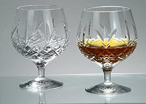 Buckingham Crystal Brandy Glasses in Satin Presentation Box