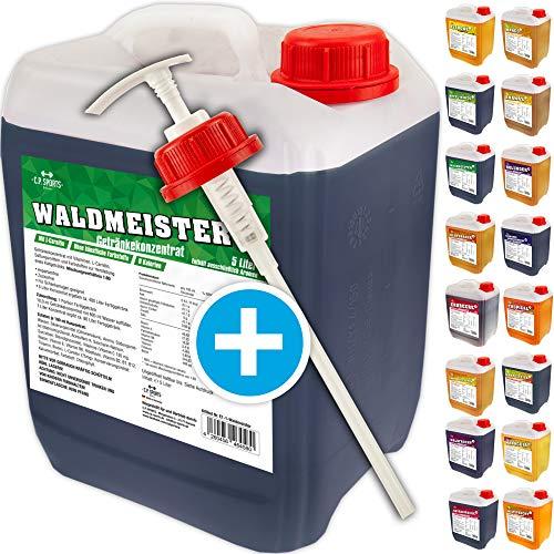 C.P. Sports Getränkekonzentrat 5 Liter Getränke Sirup Electrolyte Mineral-Vitamin Konzentrat versch. Sorten inkl. DOSIERSPENDER mit L-Carnitin (Kaktus-Feige)
