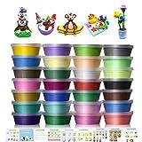 Pâte À Modeler, 24 couleurs Non Toxique Ultra Légère argile de modélisation, DIY Creative éducatif Cadeau pour les enfants