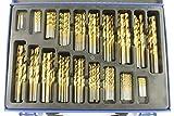 170x HSS Titan Bohrer Set Titan TiN 1-10mm DIN338 118° Spiralbohrer Metallbohrer