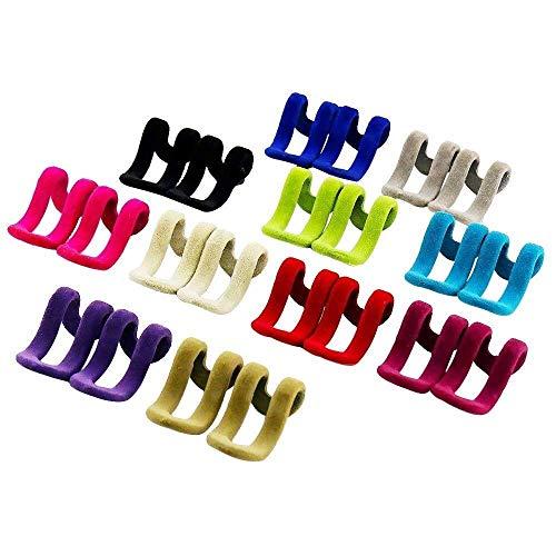 NewbieBoom Aufhänger für Haken Selbstklebende Wandhaken Haken Bunter Platzsparender Aufhänger Regal rutschfeste Kleidung Kleiderschrank Organizer Für Hosen Mäntel Kleidung Anzug Hemd, 22 Stück (Farbe