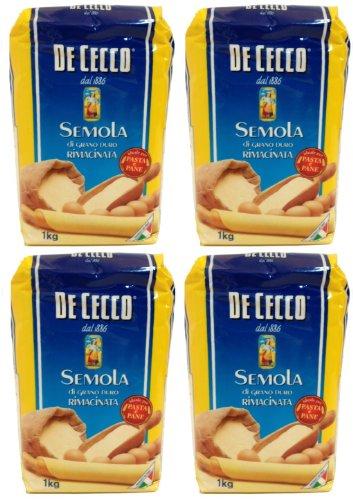 farina di grano duro De Cecco - Hartweizengrieß - Semola di grano duro rimacinata (4 x 1 kg)
