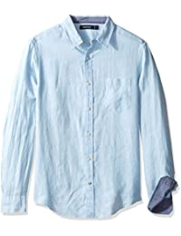 Nautica Linen Solid Slim Fit, Chemise Casual Homme
