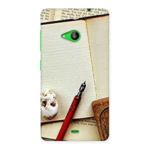 Enticing Little Diary Multicolor Back Case Cover for Lumia 535