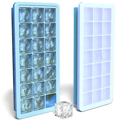 Eiswürfelform,MAIGG silikon eiswürfelbehälter,100 % BPA frei Eiswürfel Eiswürfelschalen einfach zu bedienen und waschen für Wasser, Soda, Saft, Wein, Obst, Kräuter, Saucen, Pudding, pürierte Babynahrung in der Tiefkühltruhe, Backofen, Geschirrspüler, Kühlschrank und Mikrowell (blue).