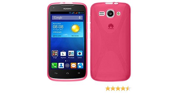PhoneNatic Custodia Compatibile con Huawei Ascend Y520 Cover Rosa Caldo X-Style Ascend Y520 in Silicone Pellicola Protettiva