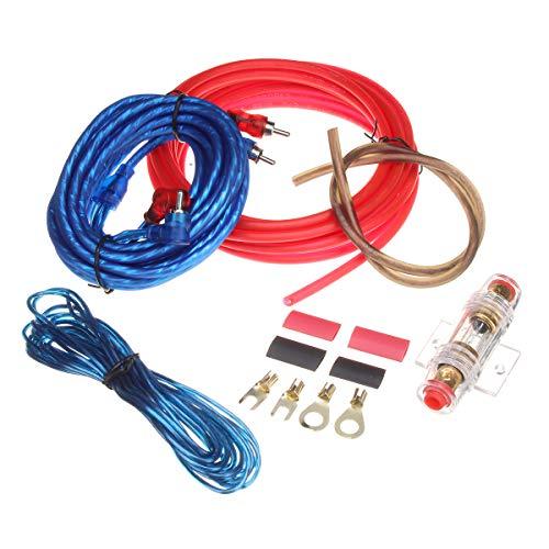JenNiFer Car Audio Subwoofer Sub Amplifier Amp RCA Wiring Kit Power Audio Cable 10Ga 4.5M -