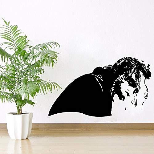 jiuyaomai Film Charaktere Wandaufkleber Fantasy Collection Für Wanddekoration Joker Naughty Side Auf der Suche nach Vinyl Wandaufkleber Lila Movie Poster 99x57 cm