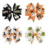 YeahiBaby Halloween Haarspangen Bögen für Mädchen - 12 Stück