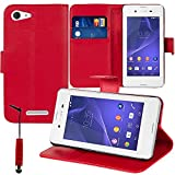 PU Leather Flip Wallet Case with Video Stand for Sony