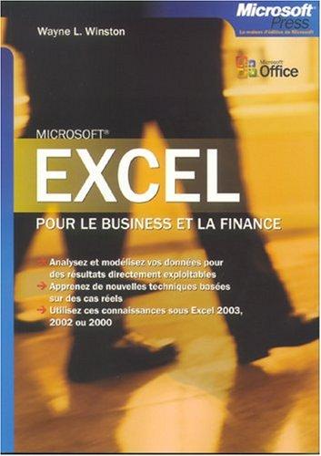 Excel pour le business et la finance - livre de référence - français