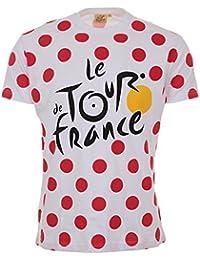 Tour de France Tdf-SA-3065 Blc L T-Shirt Adulte Homme, Pois, FR : L (Taille Fabricant : L)