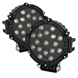 #4: Auto Stuff 17 LED 51W Watts 7 inch Fog Lamps, off road Lights for Cars, SUV, 4X4, Jeep etc. Spot Beam, Die Cast Body - Set of 2