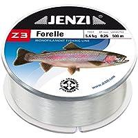 Jenzi Hilo de pesca Z3 Line para trucha, 0,22 mm, 4 kg, 500 m