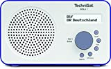 TechniSat VIOLA 2 tragbares DAB Radio (DAB+, UKW, Lautsprecher, Kopfhöreranschluss, zweizeiliges Display, Tastensteuerung, klein, 1 Watt RMS) weiß/blau -