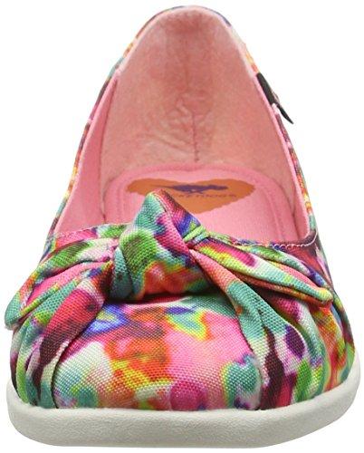 Rocket Dog Damen Jiggy Geschlossene Ballerinas Pink (PINK MULTI LCG)