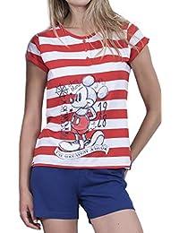 Disney Pijama Manga Corta Mujer Mickey