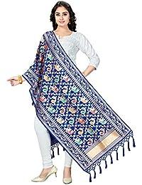 Rani Saahiba Art Silk Meenakari Zari Woven Dupatta/Stole