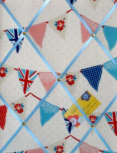medio-40-x-30-cm-fryetts-azul-union-jack-bandera-de-banderines-hecho-a-mano-tela-aviso-pin-memo-modu