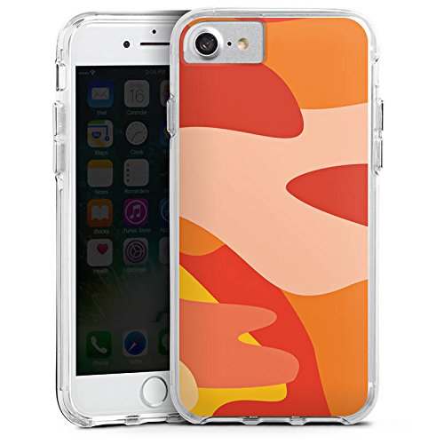 Apple iPhone 7 Plus Bumper Hülle Bumper Case Glitzer Hülle Camouflage Bundeswehr Orange Bumper Case transparent