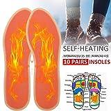 Beheizte Schuheinlegesohle Fußwärmer waschbar Fußwärmer hält Füße warm für Schuhe Stiefel Hausschuhe 3 Pairs as shown