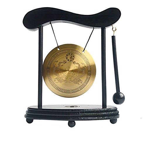 Zen Art Brass Feng Shui Desktop Gong W libre Mxsabrina rojo pulsera...