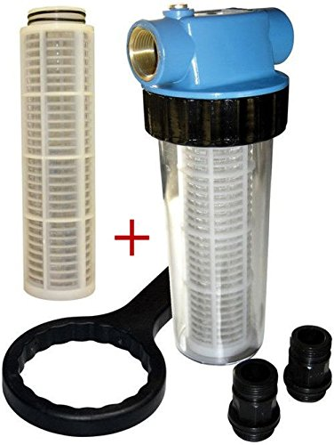 GÜDE Filter + 2 Filterkartuschen Einsätze (lang) für Hauswasserwerke 94462+63