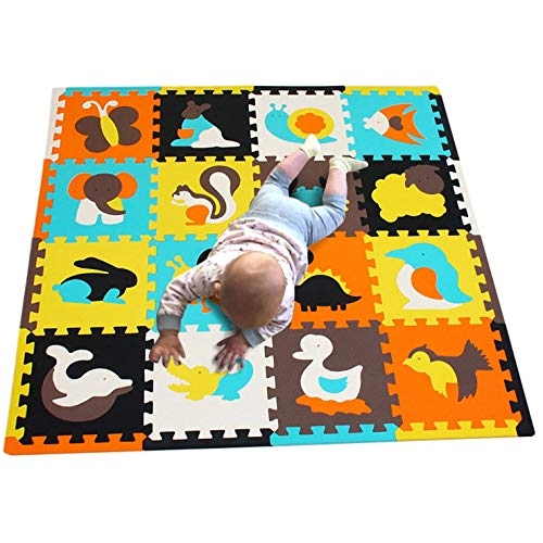 Jigsaws Kinderspiele Mat-Soft EVA Baby Krabbeldecke Puzzle Board Portable Faltschaum Spielfliesen Interlocking Spielmatte 16St (Portable Board Puzzle)