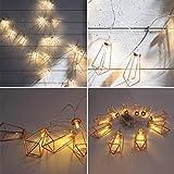 TAOtTAO Lamp Lamp string string Rose Gold Diamant Form LED String Hof Dekorative Drip Lichterkette