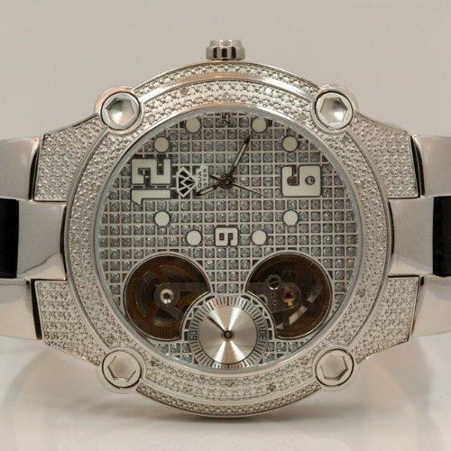 Aqua Master w2122–Montre pour hommes, bracelet en cuir couleur noir