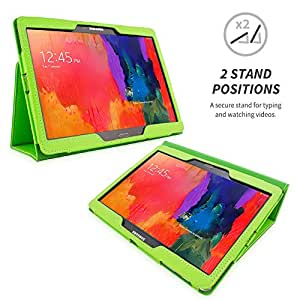 Snugg Galaxy Tab PRO 10.1 Case - Smart Cover with Flip Stand & Lifetime Guarantee (Green Leather) for Samsung Galaxy Tab PRO 10.1